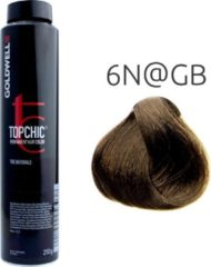 Naturelkleurige Goldwell Topchic 4NA Bus permanente haarverf 250ml