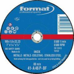 Doorslijpschijf voor V2A recht 115x1,6mm FORMAT