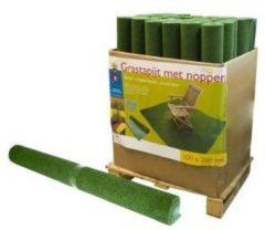 Groene Totalflooring.nl Grastapijt met nop - 100 x 200 cm - grastapijt voor balkon / terras / camping