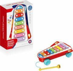 FDBW Speelgoed Xylofoon Rood met Geluid – Baby | Xylofoon Piano - Speelgoed Kind | Speelgoed Piano met Geluid | Xylofoon - Baby – 30 x 22 x 9 cm