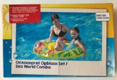 Gele Evora Oceaanpret Opblaas Set Zwemband + Kinderboot + Surfboard - Zwembad Zomer