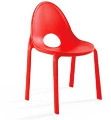 Outdoor Stühle in Rot Kunststoff (2er Set)