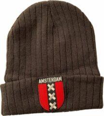Fashionhouse Premium Kwaliteit Muts / Beanie - Hoogwaardige kwaliteit | Grijs Amsterdam