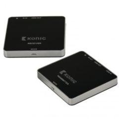 Antraciet-grijze König KN-WLHDMI10 5 Ghz Draadloze HDMI Zender 1080p / 3D Support Bereik 30 M