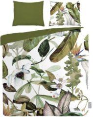 Groene ISeng Botanical - Dekbedovertrek - Tweepersoons - 200x200/220 cm + 2 kussenslopen 60x70 cm - Green