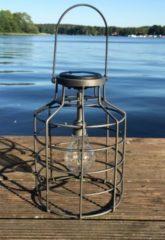 Solarlaterne Industrie Jar HTI-Living Silber