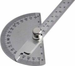 Roestvrijstalen HMerch™ Gradenboog - RVS - Gradenmeter - 180 graden - Hoekmeter Liniaal - Wiskunde