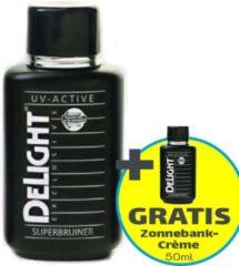 Zonnebankcrème | Delight Exclusive Super Tanning Milk UV-active - 150 ml - Actie: + Gratis 50ml Zonnebank Tanning Milk