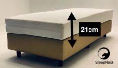 Gebroken-witte SleepNext Luxe Pocket matras - 70x200cm - Dikte 21cm