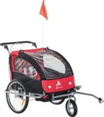 HOMCOM Kinderanhänger 2 in 1 ? Fahrradanhänger und Jogger Fahrradanhänger Jogger Kinderfahrradanhänger