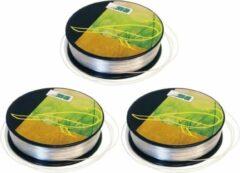 3x Nylon hobby binddraad/etalagedraad 5mm x 25 meter op rol - Transparant - Sieradendraad - Visdraad - Nylon draad op rol
