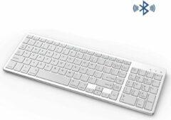 Zilveren A-KONIC© Toetsenbord Draadloos met Bluetooth 3.0 - Universeel Oplaadbaar Keyboard - Geschikt voor o.a. Tablet, PC, Laptop, Samsung, Ipad, HP, Dell en Apple