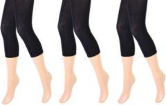 Sokkenenzo.nl 3 stuks Dames panty/legging - capri - 80 denier - zwart - maat L/XL
