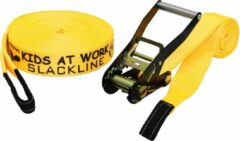 Kids At Work Slackline 17,5 Meter Polyester Geel