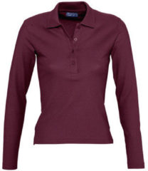 Paarse Polo Shirt Lange Mouw Sols PODIUM COLORS