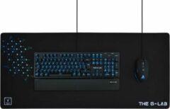 Zwarte THE G-LAB Gaming Mousepad XXL Antislip 900x400x4mm