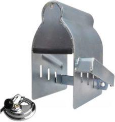 Grijze Proplus Rijdend Koppelingsslot Staal 23 Cm Zilver Met Discusslot