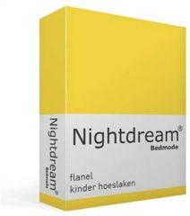 Moment By Moment Snoozing flanel kinder hoeslaken Geel Ledikant (60x120 cm) (25 geel)