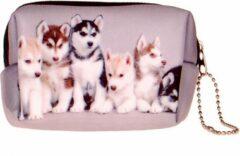 Zwarte S.Y.W Kleine etui/klein toilettasje Huskies