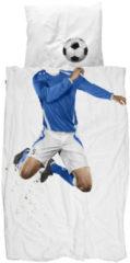 SNURK Soccer Champ - Dekbedovertrek - Eenpersoons - 140x200/220 cm + 1 kussensloop 60x70 cm - Blauw