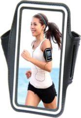 Comfortabele Smartphone Sport Armband voor uw Wiko Selfy 4g, zwart , merk i12Cover