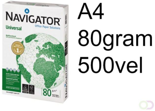 Afbeelding van Kopieerpapier Navigator Universal A4 80gr wit 500vel
