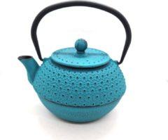 Turquoise Theepot - Theepot Nong - Gietijzeren Theepot 900 ml met zeef
