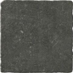 Antraciet-grijze Kerabo Vloertegel Bluestone Noir 20x20cm getrommeld Industriële look Mat Antraciet SW07310756