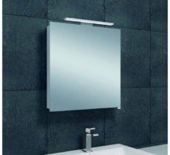Saqu Practico Spiegelkast met LED verlichting 60x60x14 cm wit
