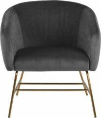 Lisomme fauteuil Lissy - Fluweel - Donkergrijs