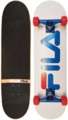 Fila skateboard 78 x 19 cm hout wit/blauw/rood
