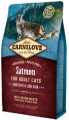 Carnilove Cat Grain Free Salmon Adult Sensitive & Long Hair 6 kg