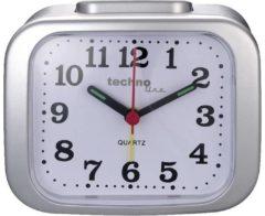 Technoline Techno Line Model Xl Silber Wekker Quartz Zilver Alarmtijden 1