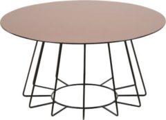 PKline Couchtisch Tisch Beistelltisch Wohnzimmertisch rund Glas Sofatisch