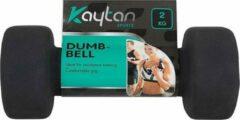 Kaytan 2x Dumbbells - set van 2kg - Dumbbell - Gewichten - Halterset - Zwart