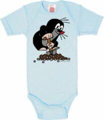 Lichtblauwe Logoshirt Baby Rompertje 74