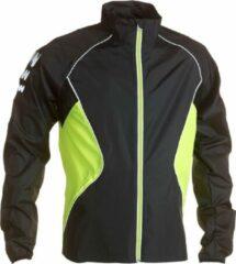 Wowow Dark Jacket Hardloopjas 2.0 Hardloopjas - Maat S - Mannen - grijs/geel/zilver