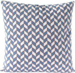 Nielsen Design Sierkussen decoratie kussen Chess 45 x 45 cm blauw wit