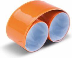 Ki-Mood KI0334 KiMood Reflecterende snap/slap warp armband 32 x 3cm – Oranje