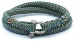 MR. JACOB Nestor geelblauwe dubbele touw armband