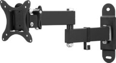 Zwarte TecTake - Kantelbare en draaibare muurbeugel - Geschikt voor tv's van 10 t/m 26 inch