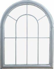 Grijze Esschert design Tuinspiegel metaal 88 cm