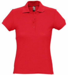 Rode Polo Shirt Korte Mouw Sols PASSION WOMEN COLORS