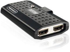 Zwarte Profigold 2-Way HDM® Switch met afstandsbediening