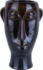 Pt, Pt Living - Mask Long - Plantenpot - Poselijn - 17,2x27,2x16,2cm - Donkerbruin