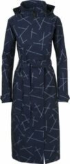 Agu Urban Outdoor Trenchcoat Long Dames Marineblauw/Assortiment Geometrisch