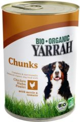 YARRAH DOG BLIK BROKJES KIP IN SAUS MET BRANDNETEL EN TOMAAT HONDENVOER #95; 820 GR