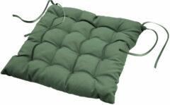 Wicotex Stoelkussen-zitkussen Essentiel groen 40x40x7cm