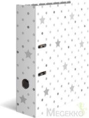 """HERMA Herma Motivordner """"Stars"""", Weiß mit grauen Sternen, DIN A4 (7193)"""
