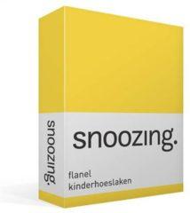 Moment By Moment Snoozing flanel kinder hoeslaken Geel Wiegje (40x80 cm) (25 geel)